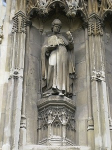 St. Augustine on the exterior of Canterbury Cathedral