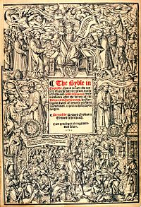 Cover page of Great Bible